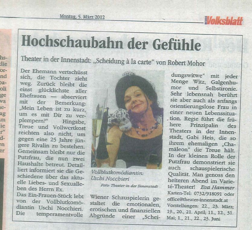 "Kritik Volksblatt ""Scheidung á la Carte"""