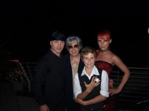 Sos, Victoria, Tigran und die Vizepräsidentin des KGC Dellach Frau Baumgartner